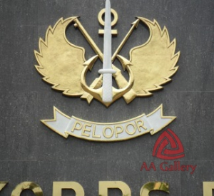 Kerajinan Kuningan Logo Kepolisian Negara Republik Indonesia